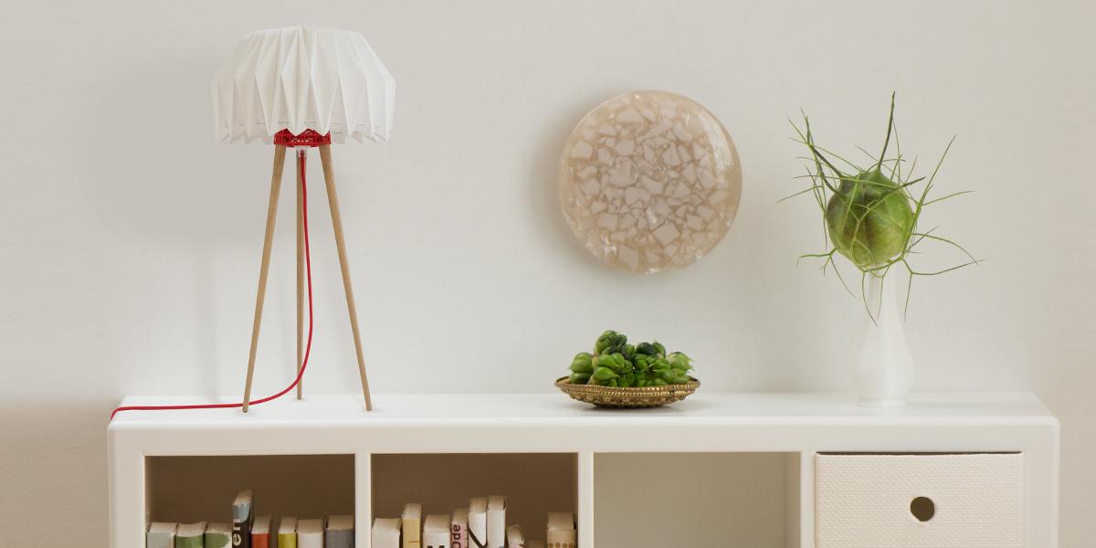 Tischleuchte mit Origami Lampenschirm
